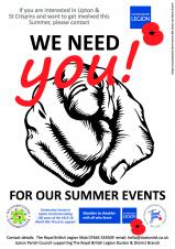 Summer Events in the Upton and St Crispins Parish - we need YOU!