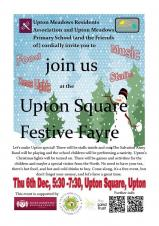 Upton Square Festive Fayre - Thursday 6th December 5:30-7:30pm